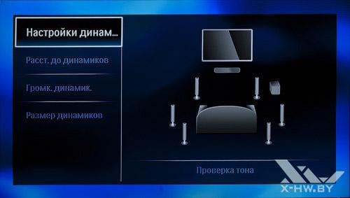Настройка расстановки многоканальной акустики на Philips BDP9600. Рис. 1