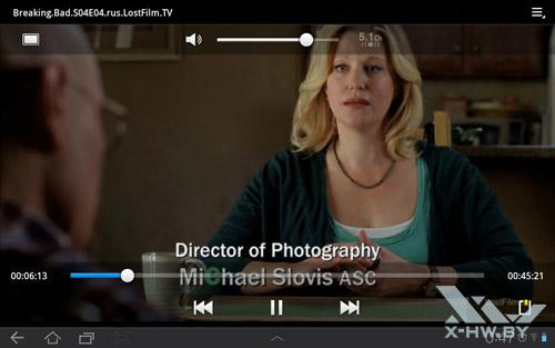 Видео плеер на Samsung Galaxy Tab 10.1. Рис. 3