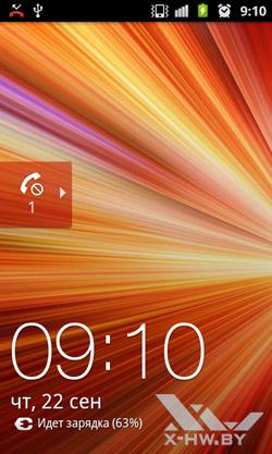 Сообщение о пропущенном вызове на экране блокировки Samsung Galaxy R