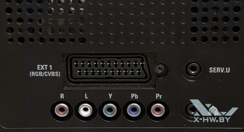 Разъемы Philips 42PFL7606: SCART, компонентный