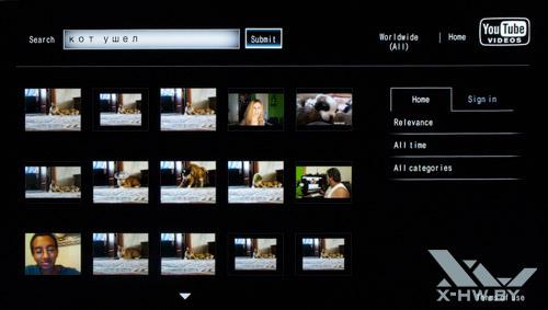 Приложение для просмотра YouTube на Philips 42PFL7606. Рис. 2