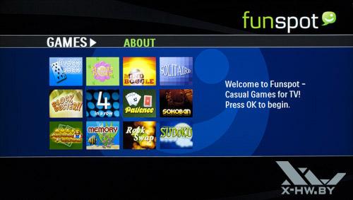 Игры Net TV на Philips 42PFL7606. Рис. 1