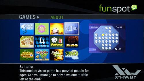Игры Net TV на Philips 42PFL7606. Рис. 2