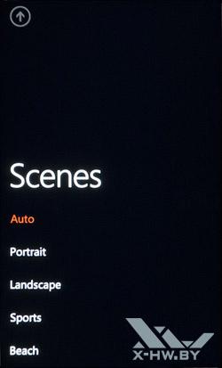 Интерфейс работы с камерой на HTC Titan. Рис. 3