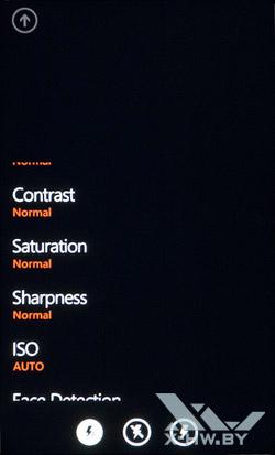 Интерфейс работы с камерой на HTC Titan. Рис. 6