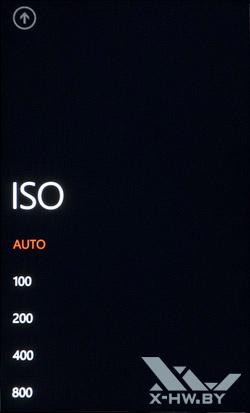 Интерфейс работы с камерой на HTC Titan. Рис. 7