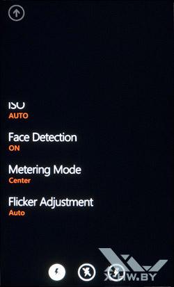 Интерфейс работы с камерой на HTC Titan. Рис. 8