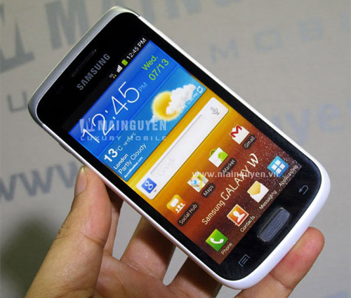 Белый Samsung Galaxy W. Рис. 1