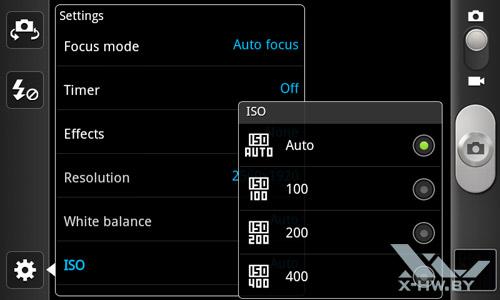 Интерфейс камеры Samsung Galaxy W. Рис. 8