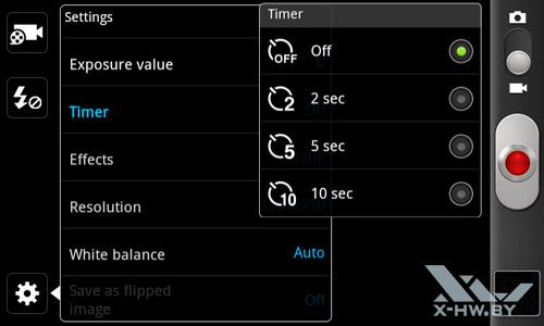 Интерфейс съемки видеокамеры Samsung Galaxy W. Рис. 3