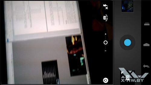 Интерфейс для работы с камерой Samsung Galaxy Nexus. Рис. 1