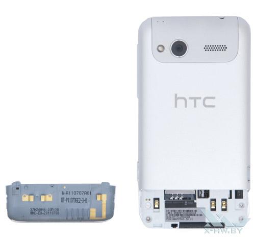 HTC Radar со снятой крышкой