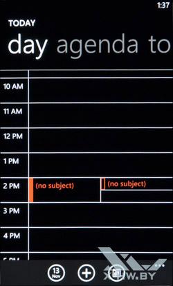 Календарь HTC Radar