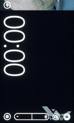 Интерфейс работы с видеокамерой HTC Radar. Рис. 1