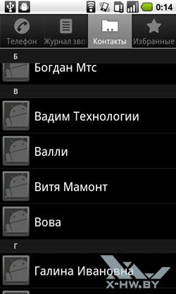 Контакты на Huawei U8800 IDEOS X5. Рис. 1