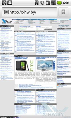 Браузер на Huawei U8800 IDEOS X5. Рис. 1