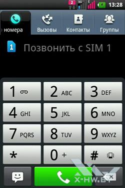 Набор номера на LG Optimus Net Dual P698