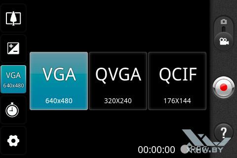 Настройки съемки видео на LG Optimus Net Dual P698. Рис. 1