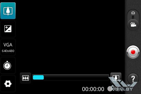 Настройки съемки видео на LG Optimus Net Dual P698. Рис. 3