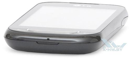 Нижний торец LG Optimus Net Dual P698