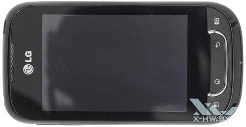 LG Optimus Net Dual P698. Вид сверху