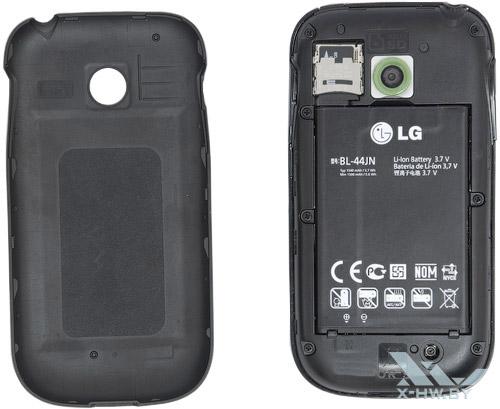 LG Optimus Net Dual P698 со снятой крышкой