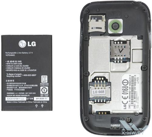Аккумулятор LG Optimus Net Dual P698