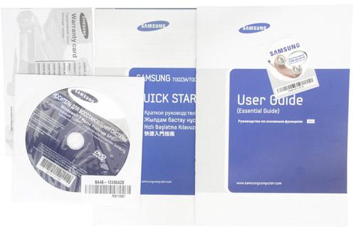 Комплектация Samsung 700Z5A