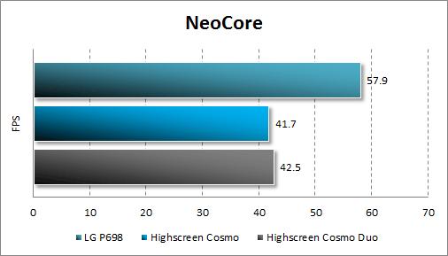 Производительность Highscreen Cosmo и Cosmo Duo в NeoCore