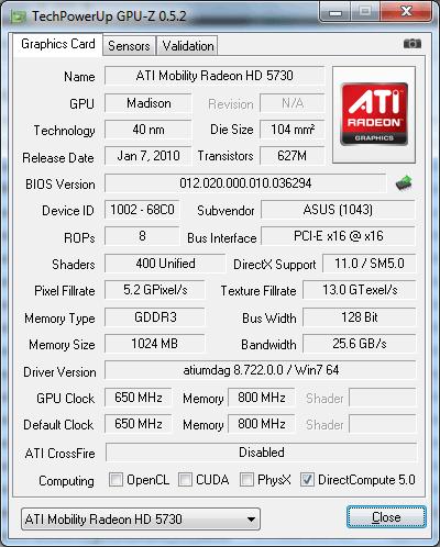 Видеокарты ASUS N52D