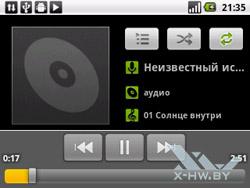 Музыкальный плеерв на Huawei U8350