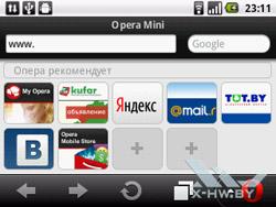 Opera Mini на Huawei U8350