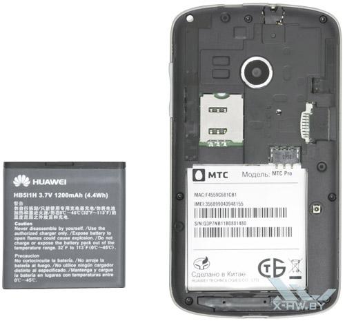 Разъем для SIM-карты на Huawei U8350