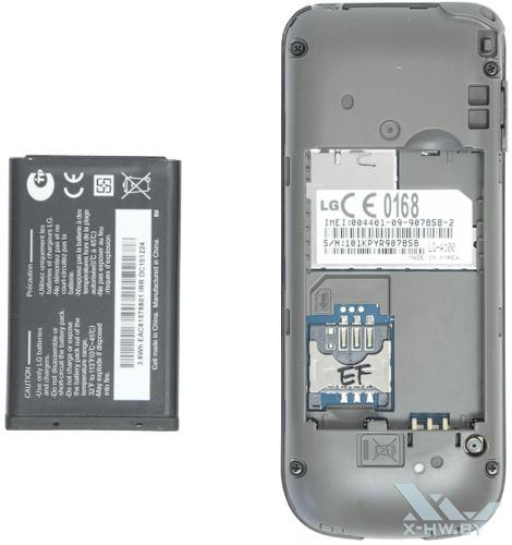 Отсек для SIM-карты на LG A100