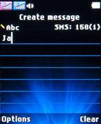 Создание сообщения на LG A155