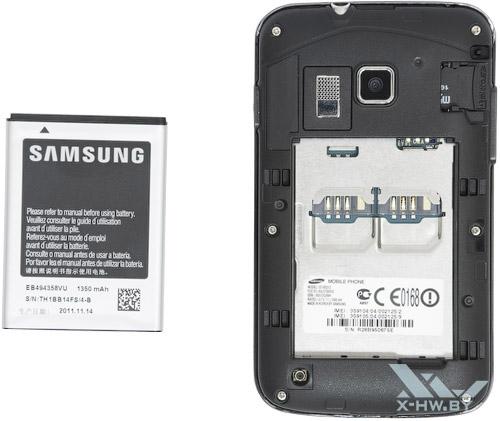 Samsung Galaxy Y Pro Duos. Разъем для SIM-карт