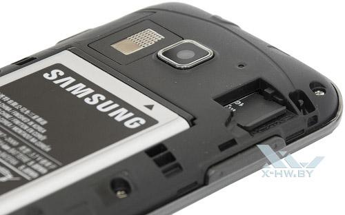 Samsung Galaxy Y Pro Duos. Разъем для microSD-карты