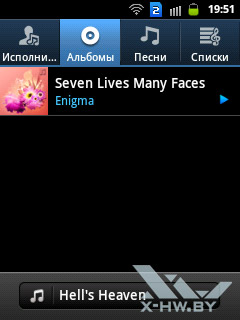 Музыкальный плеер на Samsung Galaxy Y Duos. Рис. 2