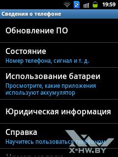Сведения о Samsung Galaxy Y Duos. Рис. 1