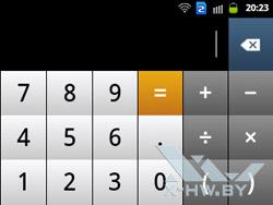 Калькулятор на Samsung Galaxy Y Duos. Рис. 2