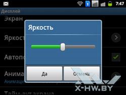 Настройки дисплея на Samsung Galaxy Y Pro Duos. Рис. 3