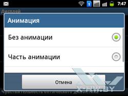 Настройки дисплея на Samsung Galaxy Y Pro Duos. Рис. 5