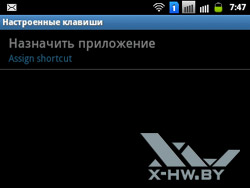 Настройка клавиш на Samsung Galaxy Y Pro Duos. Рис. 1