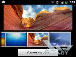 Параметры рабочего стола Samsung Galaxy Y Pro Duos. Рис. 6