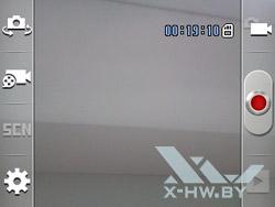 Интерфейс съемки видео на Samsung Galaxy Y Pro Duos
