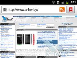 Браузер на Samsung Galaxy Y Pro Duos. Рис. 1