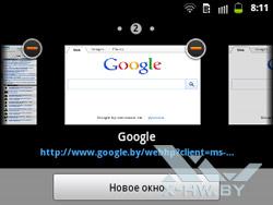 Настройки браузера на Samsung Galaxy Y Pro Duos. Рис. 1