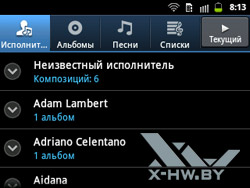 Музыкальный плеер на Samsung Galaxy Y Pro Duos. Рис. 1