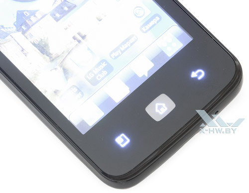 Подсветка кнопок LG Optimus Hub E510