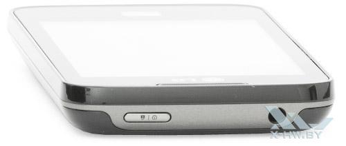 Верхний торец LG Optimus Hub E510